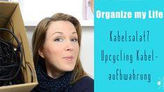 Organize my Life  - Kabel aufräumen und ordnen (Upcycling Idee) #Aufräumen #Organisation #Ordnung #Organize #Declutter #kabelaufbewahrung #diy