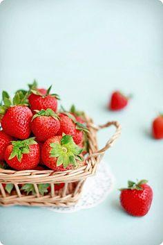strawberries.. Fruit Basket.#Fruit Basket #Basket #Wicker Basket