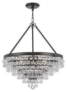 Buy the Crystorama Lighting Group Vibrant Bronze Direct. Shop for the Crystorama Lighting Group Vibrant Bronze Calypso 8 Light Wide Chandelier with Blown Glass Drops and save. Bronze Chandelier, Globe Chandelier, 5 Light Chandelier, Chandelier Shades, Lantern Pendant, Crystal Chandeliers, Dining Pendant, Entry Chandelier, Crystals