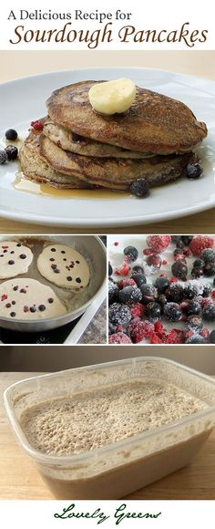 A delicious recipe for Sourdough Pancakes. Its practical too since it uses up your extra sourdough starter. Sourdough Bread Starter, Sourdough Pancakes, Sourdough Recipes, Pancakes And Waffles, Breakfast And Brunch, Breakfast Recipes, Fermented Foods, Yummy Food, Favorite Recipes