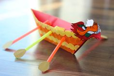 The Chinese Dragon Boat Festival is a holiday celebrated on the 5th day of the 5th month in the Chinese Lunar Calendar. Make your own dragon boat with kids!