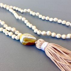 White howlite and agate combination for positive vibes!