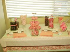 My daughters Baby Shower!! Brown and pinks!!