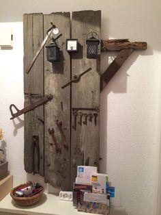 DIY Deko Shabby Vintage Landhaus Altes Werkzeug Fensterladen