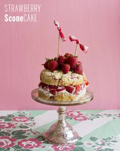 Strawberry Sconecake + a Driscoll's Berry Giveaway