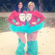 Thing 1  thing 2 Halloween costumes
