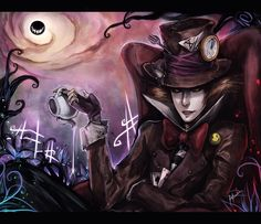 Possibley the coolest fanart of the Mad Hatter i've ever seen (is there a Watchmen reference on his jacket?)