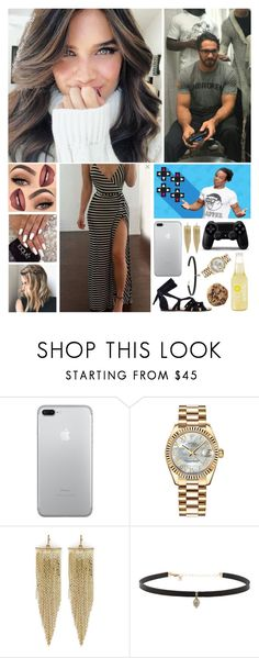 """""""💋 Samantha 💋 - Up Up Down Down"""" by forgotten-memories ❤ liked on Polyvore featuring Hello Darling, WWE, Rolex, Kenneth Jay Lane and Carbon & Hyde"""