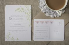 Love Birds Wedding Stationery - Wedding in a Teacup
