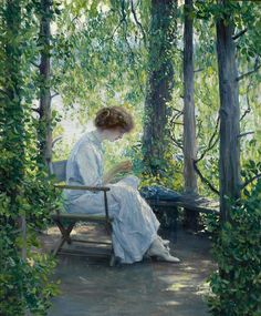 Guy Rose (American, 1867-1925) Woman sewing - Pictify - your social art network