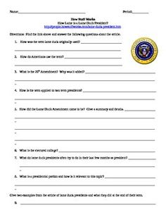 This is an Internet assignment on the website How Stuff Works. The website offers articles about various topics. This is a list of questions for a particular article on the site. The link to the article is at the top of the page for the students. The click through the article to answer the questions.