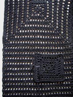 omⒶ KOPPA - Wool black jacket: the pocket