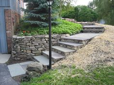 57 Ideas For Flagstone Patio Steps Garden Ideas Hillside Landscaping, Outdoor Landscaping, Front Yard Landscaping, Backyard Patio, Landscaping Ideas, Walkway Ideas, Patio Ideas, Patio Stairs, Garden Stairs