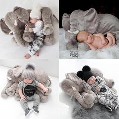 "Big Soft Baby Elephant – ""Loved it! Gave it to my daughter at her baby shower……it was a great hit!"" – Glenda – Customer Love This Big Baby Elephant 🐘❤️ Newborn Elephant, Elephant Pillow, Elephant Love, Photo Bb, Baby Shooting, Baby Elefant, How Big Is Baby, Big Baby, Baby Mobile"
