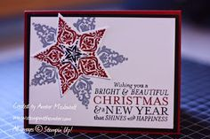 stampwithamber - Amber Meulenbelt, independant Stampin' Up! Stamp A Stack, Beautiful Christmas, Just Love, Stampin Up, Amber, Colours, Bright, Create, Happy