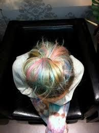pastel hair highlights - Google Search