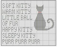 soft kitty pattern for fans of The Big Bang Theory...love this!  http://maikesprikbord.wordpress.com/2013/03/13/borduurpatroontje-gemaakt/?relatedposts_exclude=1291