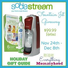 Enter to win a SodaStream Starter Kit, make your own soda!