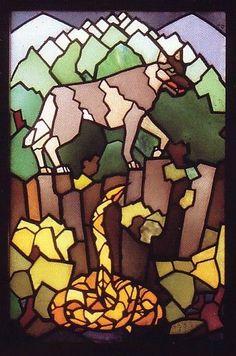 Friedrich Adler, Twelve Tribes Window, detail