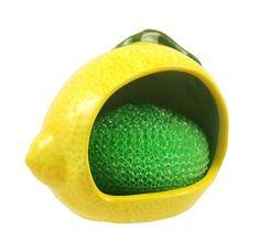 Marcel Home Decor Gift Ceramic Kitchen Sponge Scrub Holder Lemon