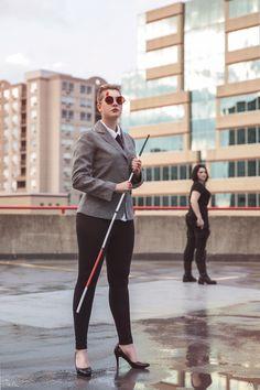 Genderbent Matt Murdock/Daredevil & Punisher Cosplay http://geekxgirls.com/article.php?ID=7669