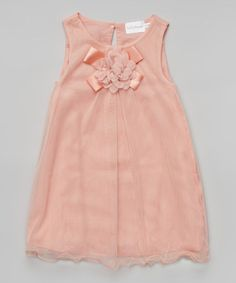 Another great find on #zulily! Pink Floral Swing Dress - Toddler & Girls #zulilyfinds