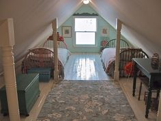 Attic  by house dreams. If we decide to let the girls move into the attic...