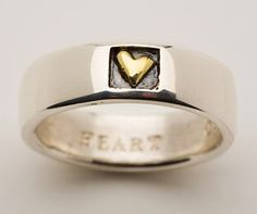 Beautiful Alan Ardiff Heart of Gold ring for both men and women