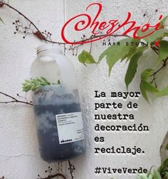 Recycled bottles  Davines
