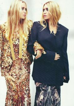 Mary-Kate & Ashley Olsen by Alexei Hay for Elle UK April 2012. Stylist: Anne Marie Curtis, Hair: Mark Townsend, Make-up: Genevieve.