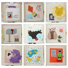 PATTERN for ABC Activity Book - all 26 letters - pdf. $21.50, via Etsy.
