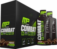 MusclePharm Combat Pro-Gel Chocolate 12 Gel Packs MPHARM4210122 Chocolate - A High-Protein, Great-Tasting, Conveniaent Snack