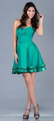 2014 Prom Dresses - Jade Strapless Chiffon Short Prom Dress