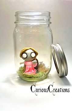 Captured Corpse. Zombie in a Jar. Pet zombie handmade polymer clay by CuriousCreations123
