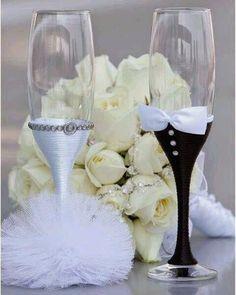 MENTŐÖTLET - kreáció, újrahasznosítás: Esküvői pohár