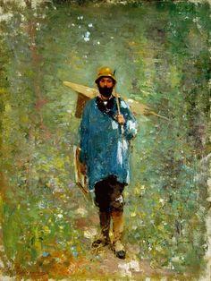 Grigorescu, Nicolae (Romanian painter) (1838-1907) - 'The Artist Ion Andreescu'