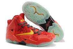 best service e6b0e 497e7 Nike Lebron 11 P. Elite 616175 001 Total Crimson Yellow For Wholesale