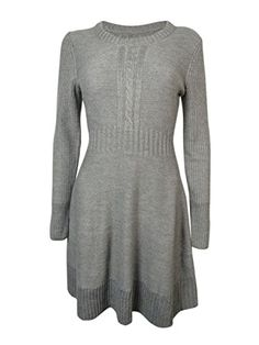 Jessica Simpson Heather Women's Medium Knit Sweater Dress Gray M