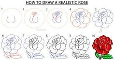 Design to draw - Draw Pattern - Image result for easy roses drawings step by step... Draw Pattern & inspiration  Preview – Pattern    Description  Image result for easy roses drawings step by step  – Source –