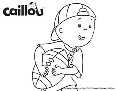 Caillou Coloring Sheet – Touchdown! Colouring Pages, Coloring Sheets, Caillou, Fun Activities, Wheels, Snoopy, Printables, My Style, Cards