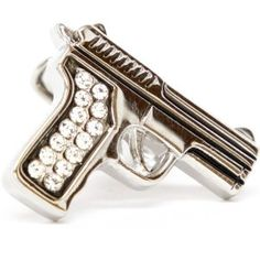 Automatic Diamond Cuff Links - Great Gifts for Gun Nuts
