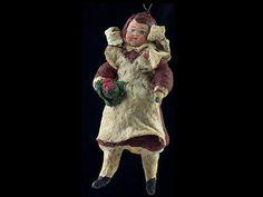 Vintage Alt Vorkriegszeit Watte Christbaumschmuck Sowjetischen Schülerin | eBay