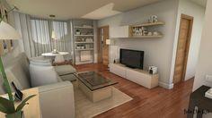 Ideas de distribución para tu salón-comedor Living Room Modern, Interior Design Living Room, Living Room Designs, Living Room Decor, Bedroom Decor, Ideas Decoracion Salon, Dream Home Design, Cuisines Design, Led