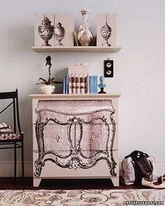Personaliza tus muebles minimalistas con un aire vintage