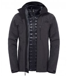 The North Face Chaqueta para hombre Thermoball Triclimate TNF Black Heather