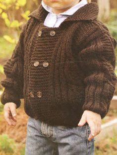 Discover thousands of images about Chaqueta de punto paso a paso en Inke, Madrid Baby Boy Knitting, Knitting For Kids, Baby Knitting Patterns, Baby Patterns, Cardigan Bebe, Baby Cardigan, Knit Baby Sweaters, Boys Sweaters, Crochet For Boys