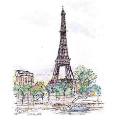 La tour Eiffel Paris, Eiffel tower Paris ❤ liked on Polyvore featuring backgrounds, fillers, sketches, drawings, paris, doodles and scribble