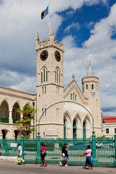 The parliament buildings in Bridgetown, Barbados, West Indies.