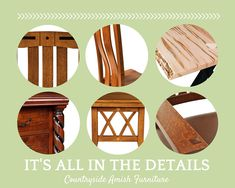 Find your signature handcrafted detail - Countryside Amish Furniture