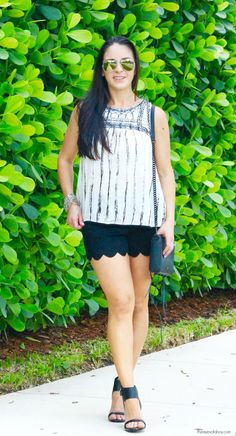Love both the top and shorts!! Stitch Fix See U Soon Michels Embellished Top RD style short
